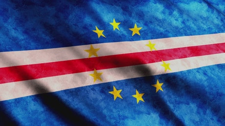 Cape Verde waving 3D flag