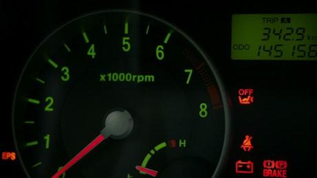 Car speed dashboard