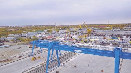 Cargo area of a port