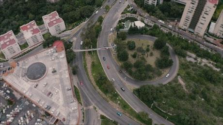 Carpark and freeway traffic