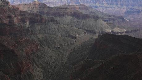 Casting shadows over a canyon