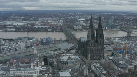 Cathedral near the river in Germany