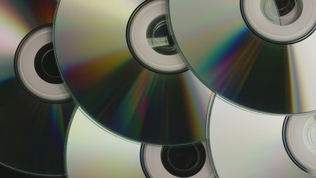 CD's texture slowly rotating