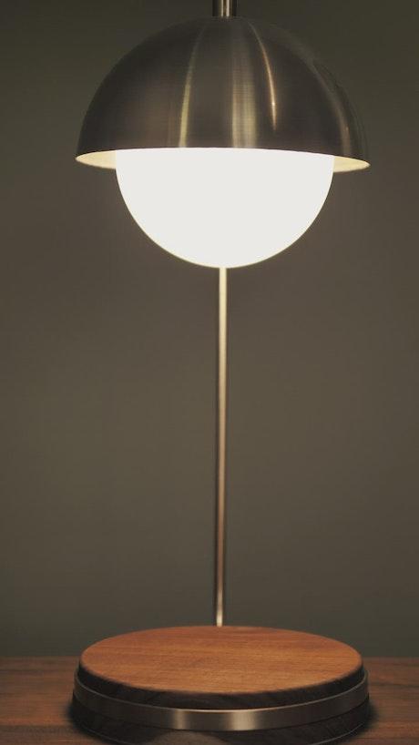 Cellphone under a lamp