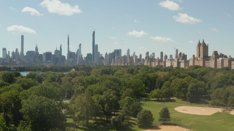 Central Park with buildings on the skyline