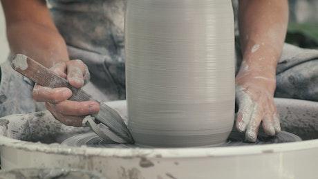 Ceramic artist wooden carving tool