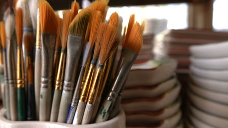 Ceramic paint brushes