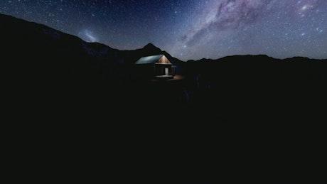 Chalet under the Milky Way
