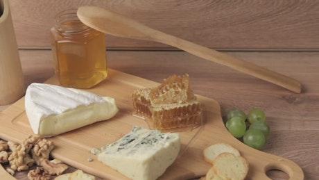 Cheese and honey platter