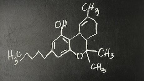 Chemical model on the blackboard