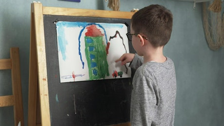 Child with his painting
