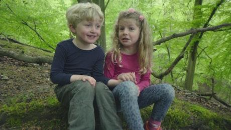 Children chatting outside