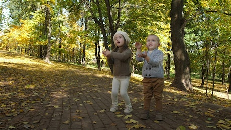 Children clapping outside