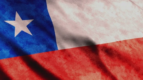 Chile faded waving 3D flag