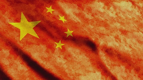 China flag waving, 3D animation