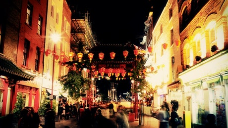 Chinatown at night time