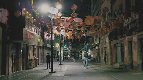 Chinatown street at night