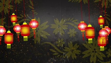 Chinese Lantern Lights, background title video