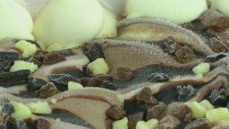 Chocolate and coffee ice cream texture
