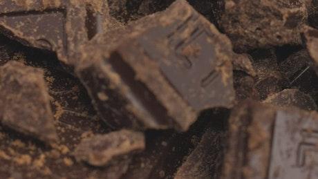 Chocolate bar chunks texture