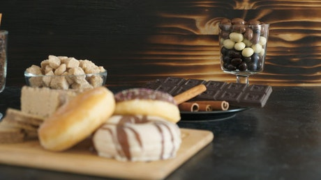 Chocolate treats and donuts