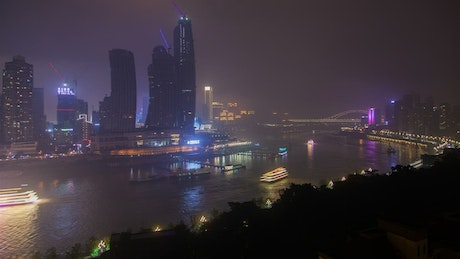 Chongqing cityscape at night