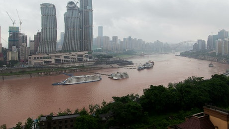 Chongqing cityscape by the river