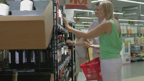 Choosing a bottle of wine