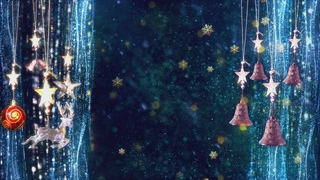 Christmas background while snowing, 3D animation