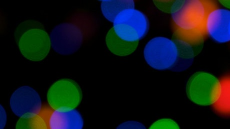 Christmas lights bokeh in the night