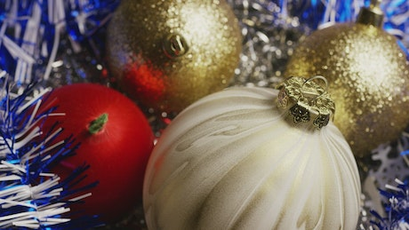 Christmas spheres decorations