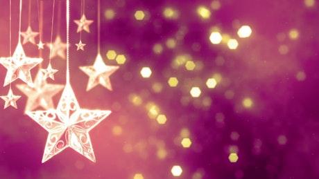 Christmas stars and glitter
