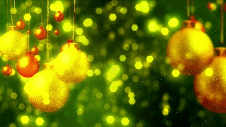 Christmas tree decoration concept, background video