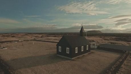 Church and wild landscape