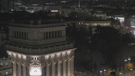 Cibeles Square at night in Madrid