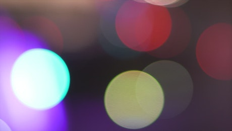 Circles of light with bokeh effect