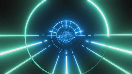 Circular passageway of lines and circles