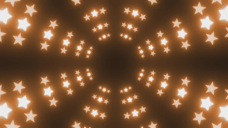 Circular star-shaped panel of lights