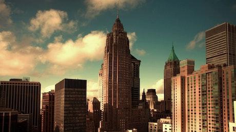 City full of buildings