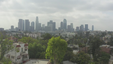 City of Los Angeles, California on a cloudy day
