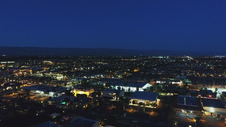 City seen from the heights at night