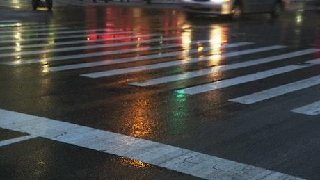 City street after the rain