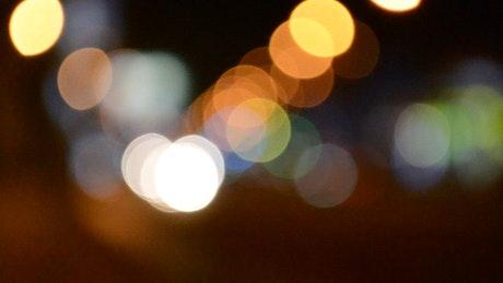 City traffic blurred at night