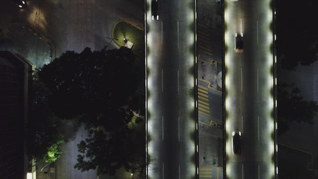 City traffic during the night