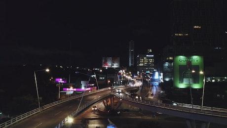 City traffic on a bridge