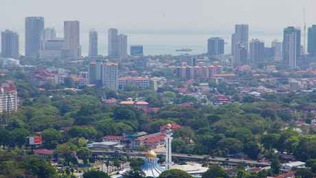 Cityscape in Malaysia in daytime