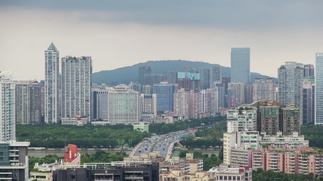 Cityscape of Guangzhou city in daytime