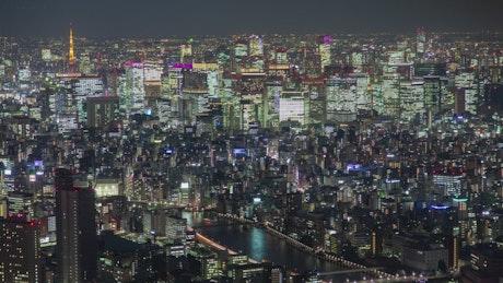 Cityscape of the Tokyo metropolis