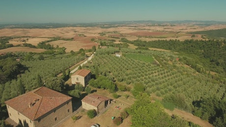 Clear sky over Tuscany