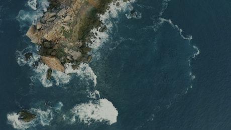 Cliffs in the sea aerial shot